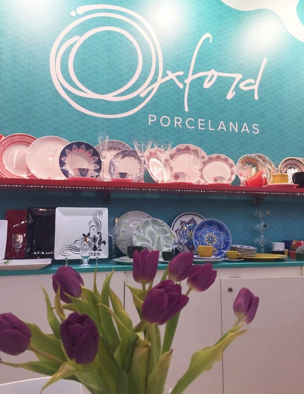 Estande da Oxford Porcelanas na Ambiente Fair 2016. Foto: Equipe Oxford Porcelanas.