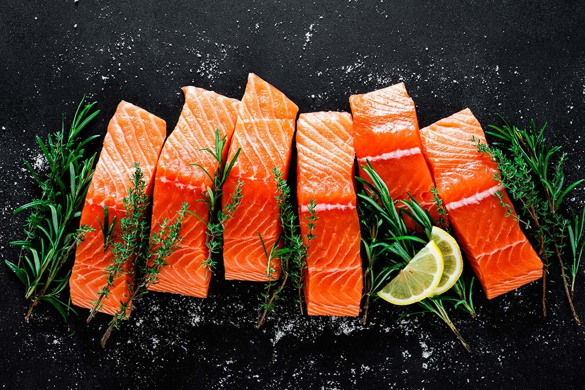 Imagem: Consumir salmão traz inúmeros benefícios à saúde, como o efeito antioxidante no corpo. Foto: Shutterstock/Sea Wave.