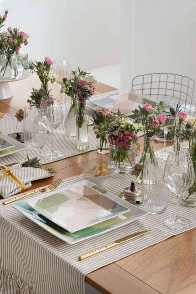 Visão diagonal da mesa